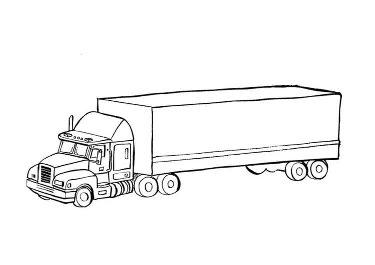 Malvorlage Lastwagen | Ausmalbild 9674.