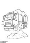 Malvorlage  Lastwagen