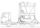 Malvorlage  Lastwagen - Sandmixer