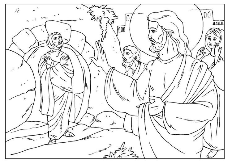 Malvorlage Lazarus | Ausmalbild 25928.
