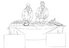 Malvorlage  Lebensmittelhilfe