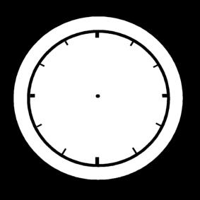 Malvorlage Leere Uhr Ausmalbild 14214