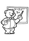 Malvorlage  Lehrer 2
