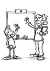 Malvorlage  Lehrer und Schüler