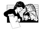 Malvorlage  Lehrerin