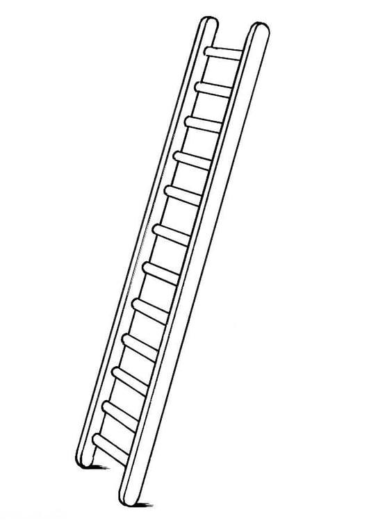 Malvorlage Leiter Ausmalbild 8180
