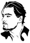 Malvorlage  Leonardo Di Caprio