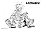 Malvorlage  Lese-ecke