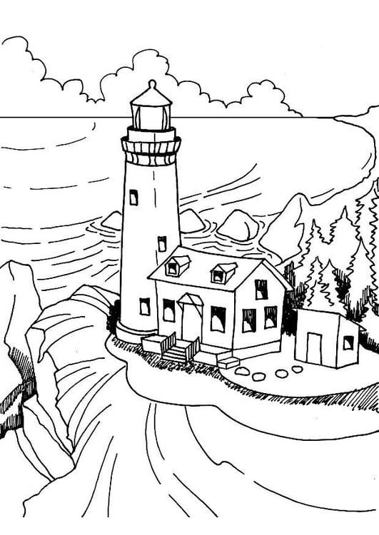 Leuchtturm Vorlagen Bunte Zeichnungen Leuchtturm 10