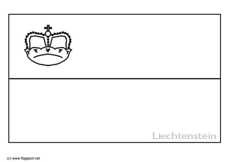 Malvorlage Lichtenstein | Ausmalbild 6375.
