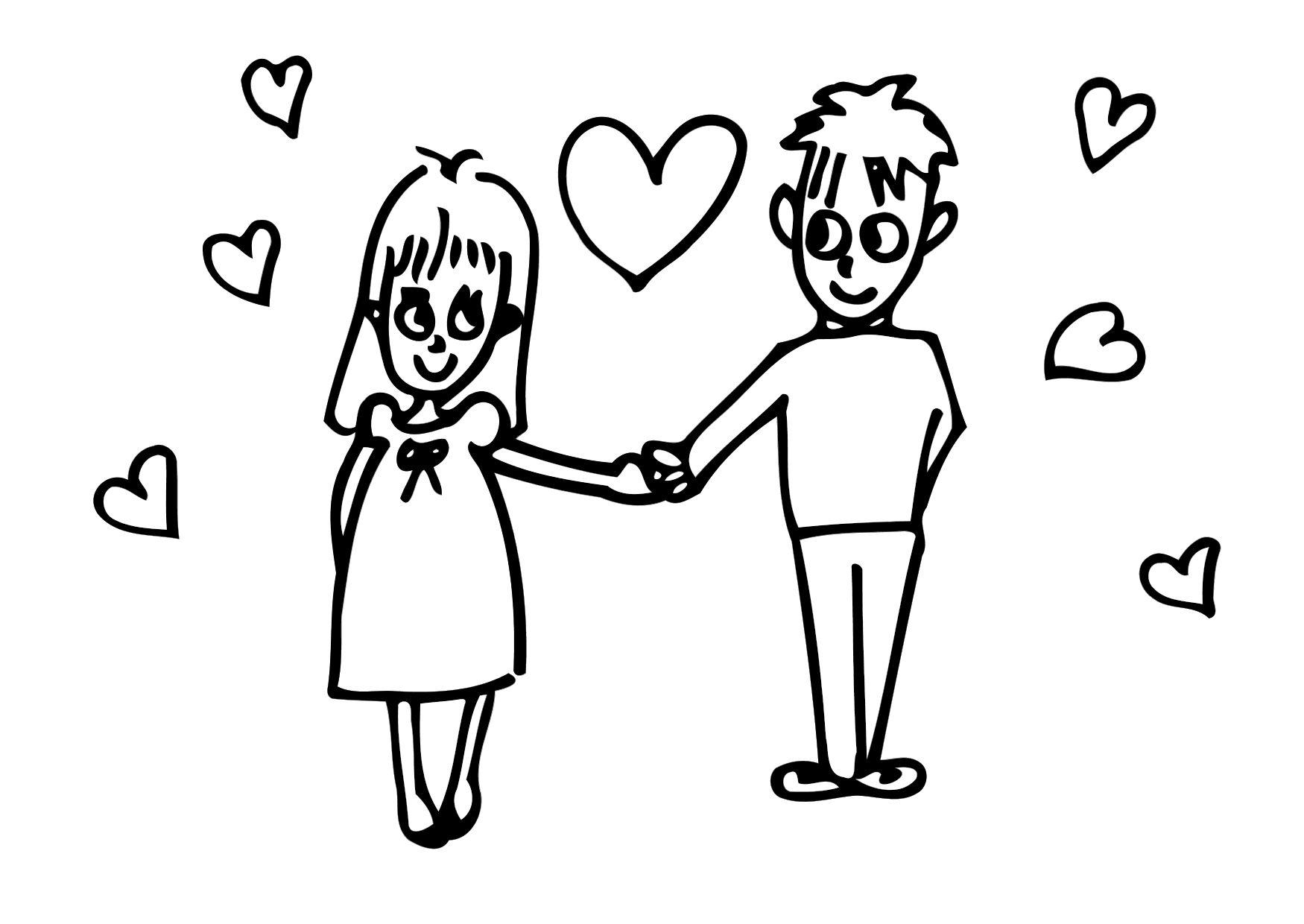 Malvorlage Liebe | Ausmalbild 20623.