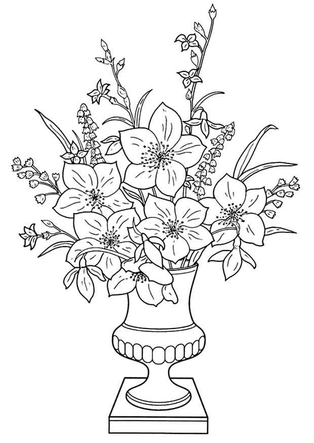 Malvorlage Lilien In Der Vase Kostenlose Ausmalbilder