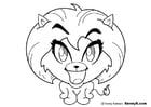 Malvorlage  Löwin