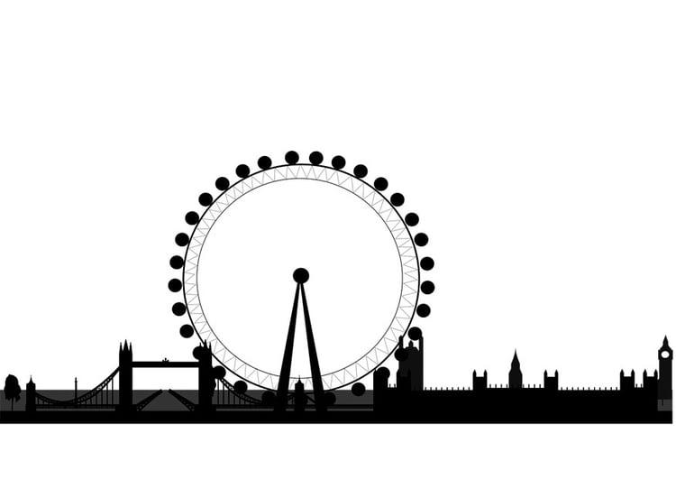 Malvorlage London Silhouette Kostenlose Ausmalbilder Zum Ausdrucken