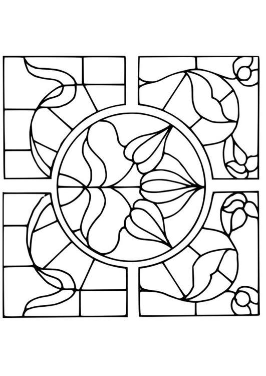 Malvorlage Lupe Mit Blumenmotiv Ausmalbild 18641