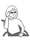 Malvorlage  Mädchen im Rollstuhl