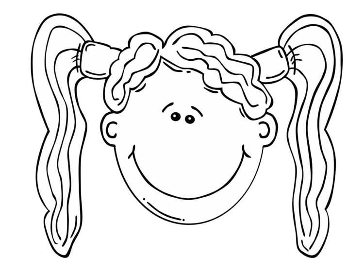 Charmant Ausmalbilder Des Kleinen Mädchens Gesicht Ideen - Ideen ...