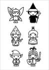 Malvorlage  Märchenfiguren