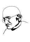 Malvorlage  Mahatma Gandhi