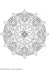 Malvorlage  Mandala-1402d