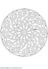Malvorlage  Mandala 1502d