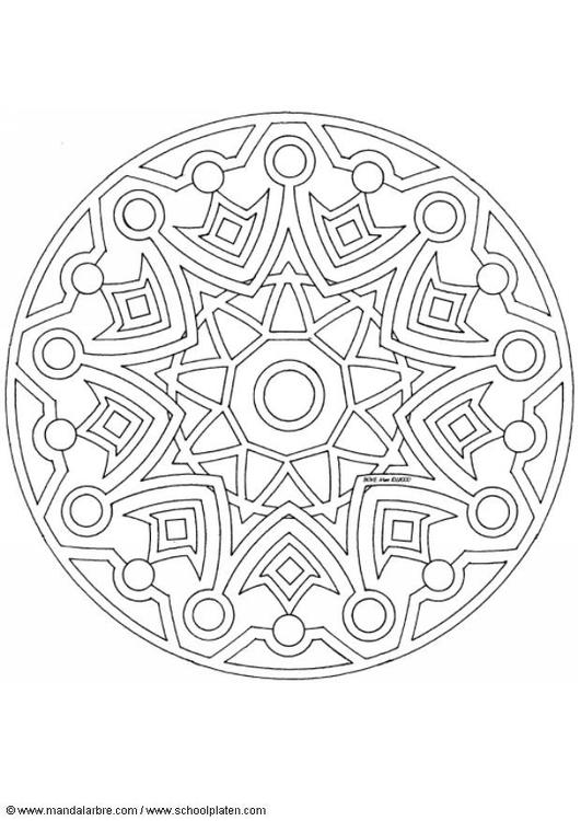 Malvorlage Mandala 1502l Ausmalbild 4485