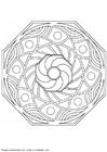 Malvorlage  Mandala 1502r