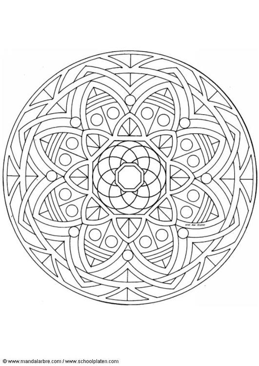 Malvorlage Mandala 1502t Ausmalbild 4493