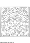 Malvorlage  Mandala -1502v