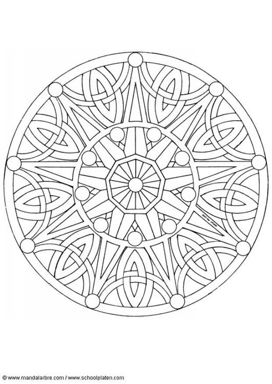 Volwassen Kleurplaten En Mandalas Malvorlage Mandala 1702b Kostenlose Ausmalbilder Zum