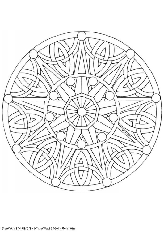 Malvorlage Mandala 1702b Ausmalbild 4518 Images