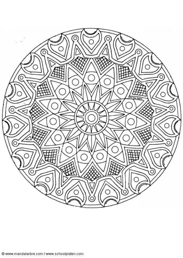Malvorlage Mandala 1702d Ausmalbild 4520