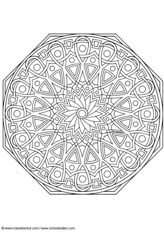 Malvorlage Mandala 1702n Ausmalbild 4530