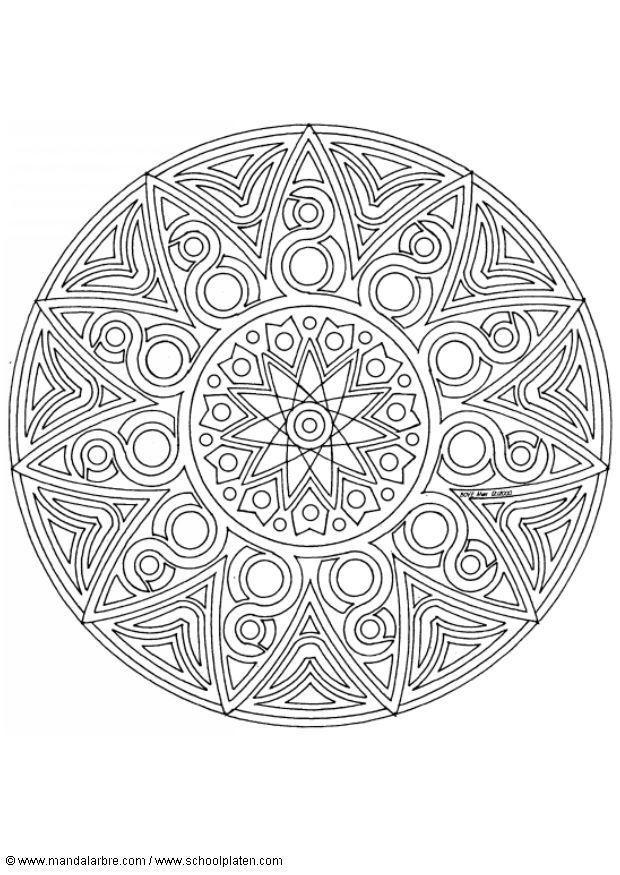 Malvorlage mandala 1702o | Ausmalbild 4531.