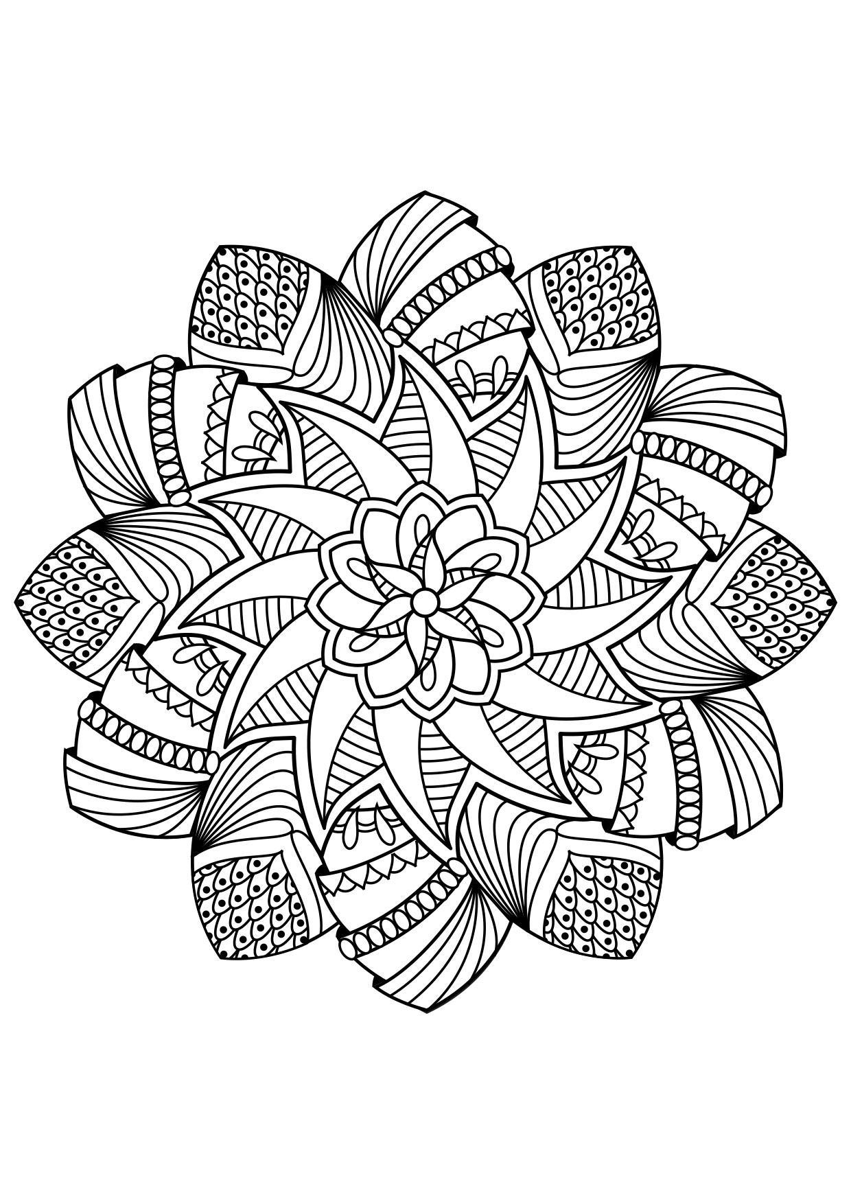 Malvorlage Mandala - Kostenlose Ausmalbilder Zum Ausdrucken - Bild