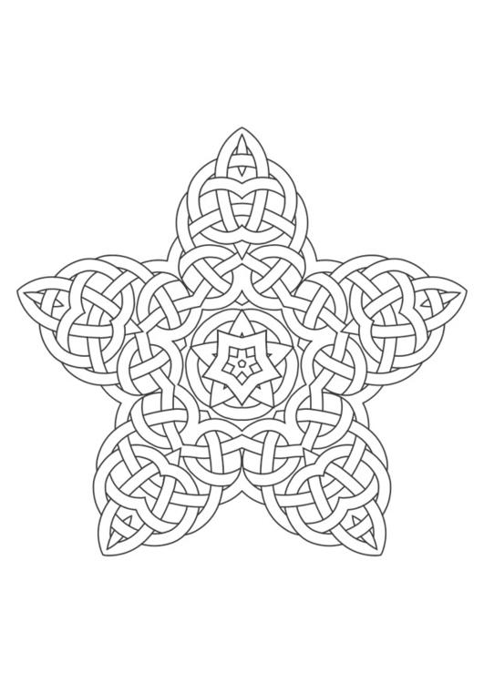 Malvorlage Mandala Ausmalbild 29611