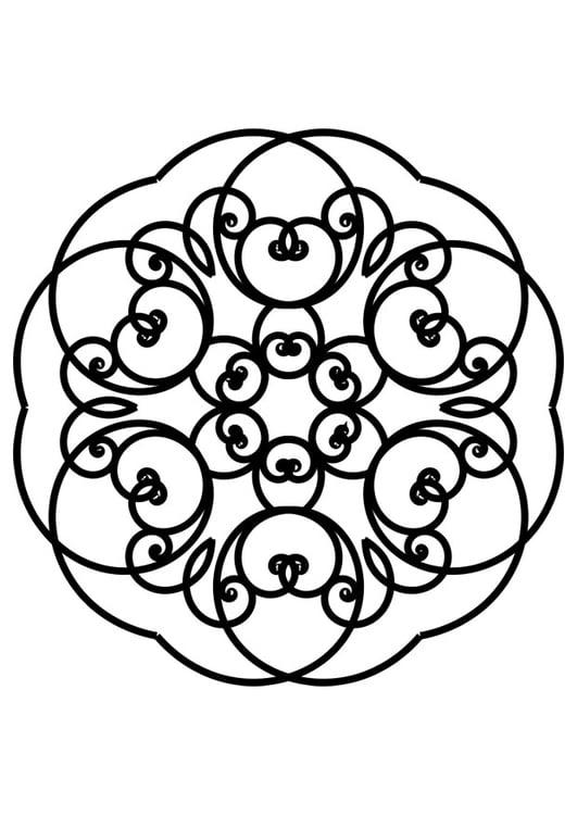 Malvorlage Mandala Ausmalbild 30119