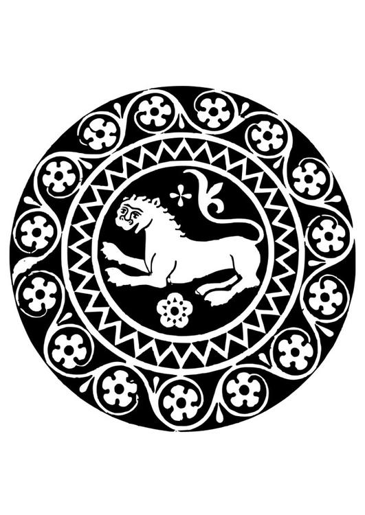 Malvorlage Mandala Löwe Ausmalbild 26334