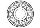 Malvorlage  Mandala1