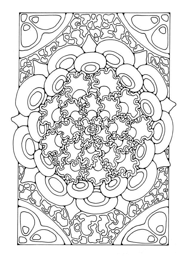 Malvorlage Mandala9a | Ausmalbild 21905.
