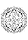 Malvorlage  Mandalablume