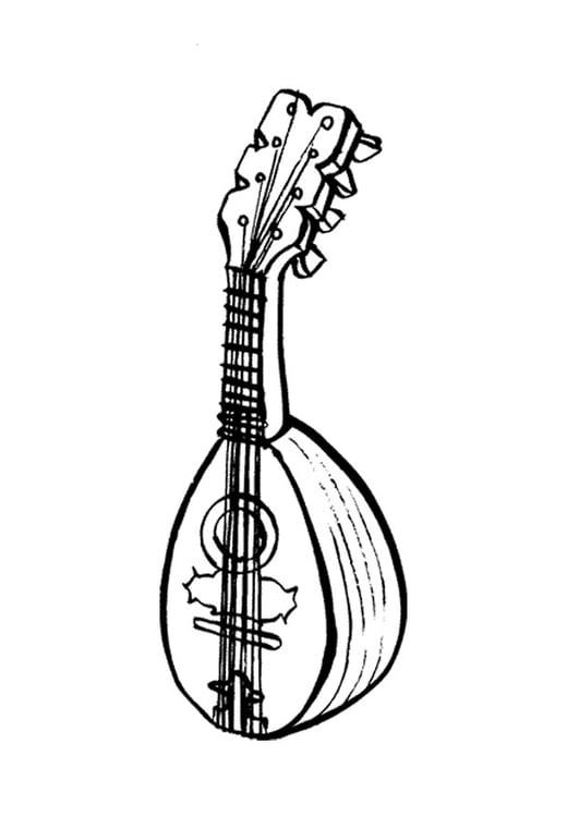 malvorlage mandoline  kostenlose ausmalbilder zum