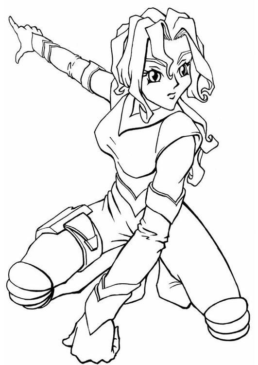 Malvorlage Manga Spacegirl Ausmalbild 8905