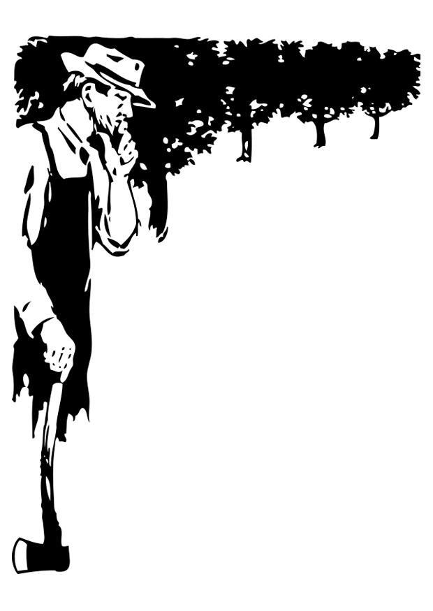 malvorlage mann mit axt  kostenlose ausmalbilder zum