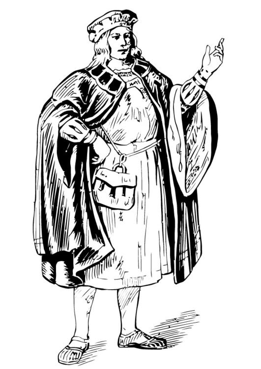 malvorlage mann mit mantel  ausmalbild 13352