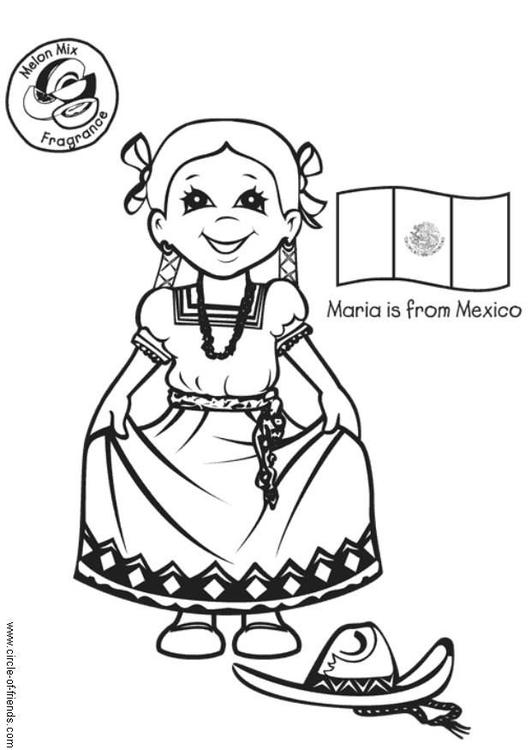 Atemberaubend Mexiko Malvorlagen Für Kinder Zeitgenössisch - Framing ...
