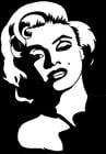 Malvorlage  Marilyn Monroe