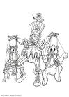 Malvorlage  Marionetten