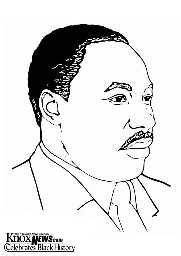 Malvorlage Martin Luther King, Jr | Ausmalbild 12874.