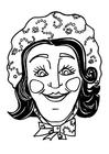 Malvorlage  Maske Katrin